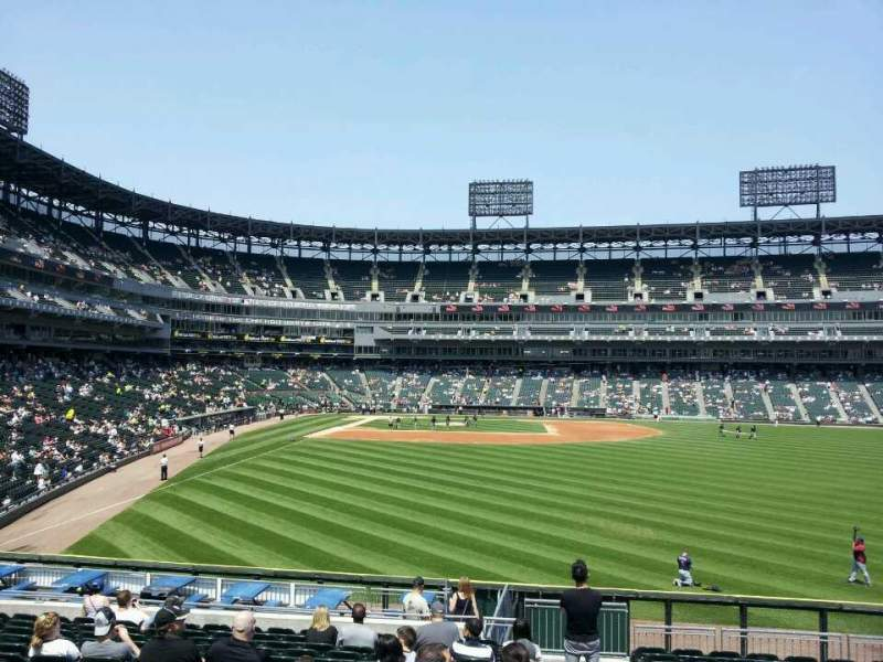 Seating view for Guaranteed Rate Field Section 106 Row 23 Seat 1
