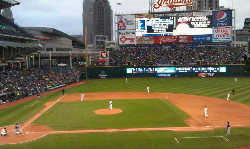 Seating view for Progressive Field Section 346 Row B Seat 10
