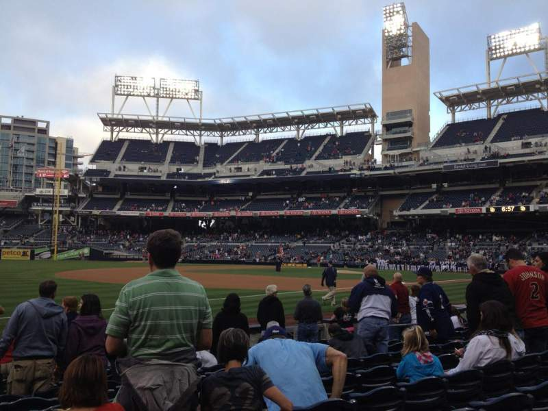 Seating view for PETCO Park Section 116 Row 10 Seat 16
