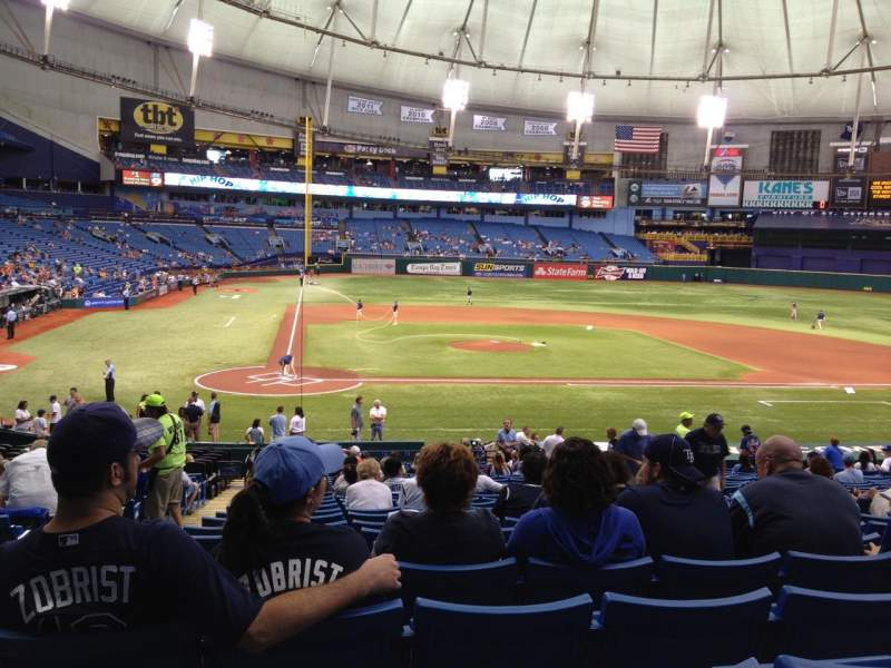 Seating view for Tropicana Field Section 110 Row HH Seat 1,2