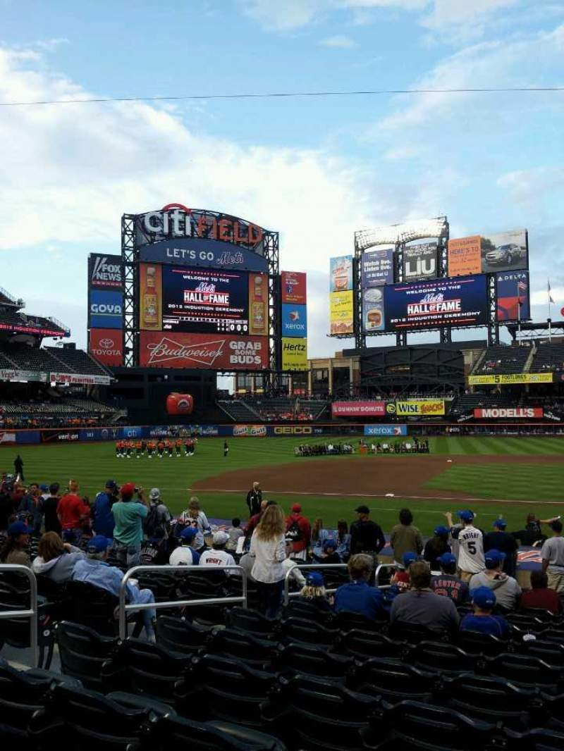 Seating view for Citi Field Section 121 Row 15 Seat 12