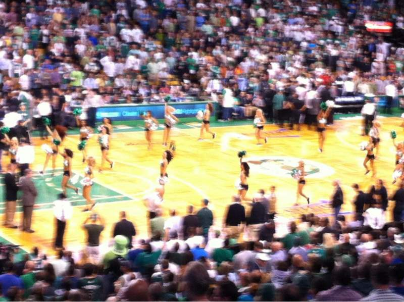 Seating view for TD Garden Section Loge 15 Row 22 Seat 1