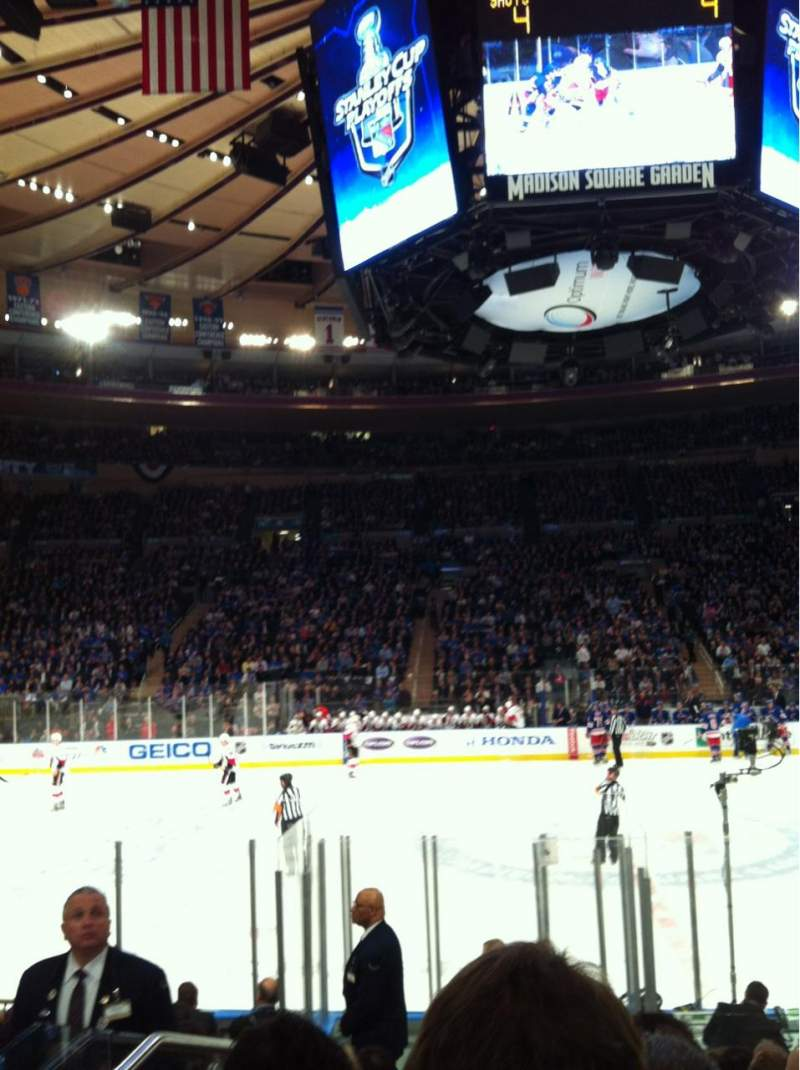 Seating view for Madison Square Garden Section 117 Row 7