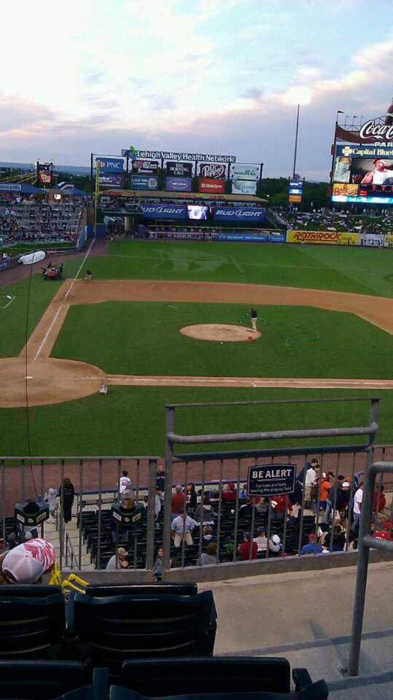 Seating view for Coca-Cola Park Section 205 Row D Seat 9