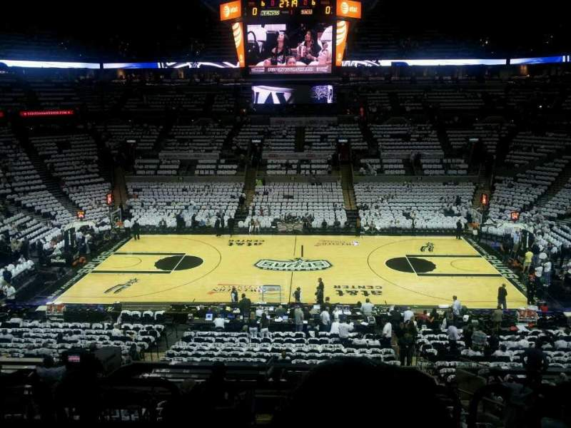 Seating view for AT&T Center Section 107 Row 32 Seat 7