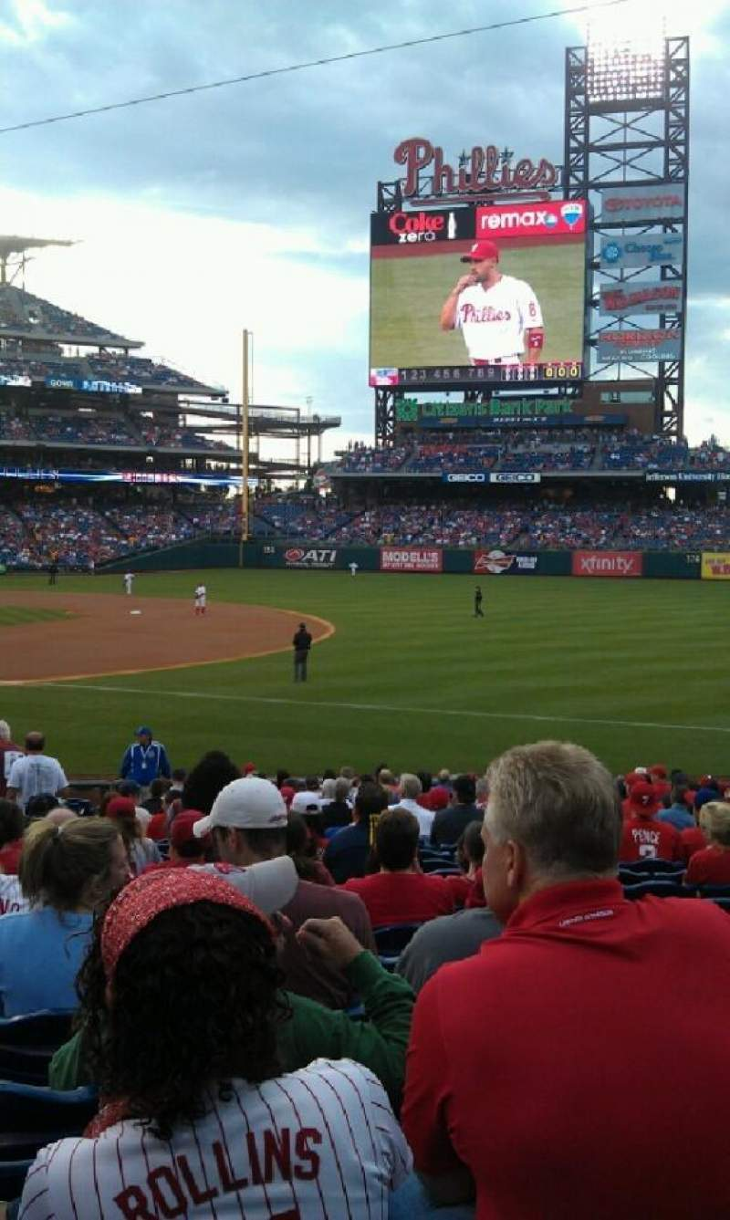 Seating view for Citizens Bank Park Section 112 Row 24 Seat 15