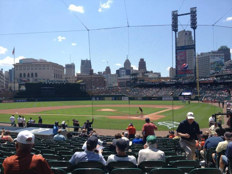 Seating view for Comerica Park Section 130 Row 20 Seat 3