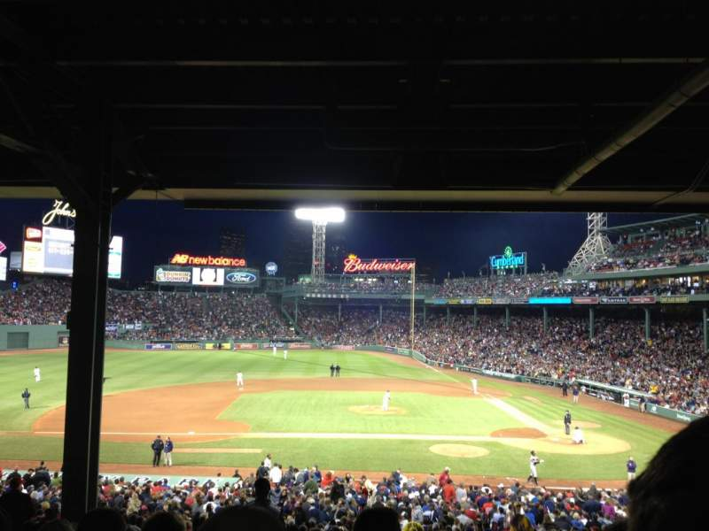 Seating view for Fenway Park Section Grandstand 25 Row 15 Seat 15