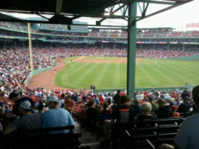Seating view for Fenway Park Section Grandstand 2 Row 15 Seat 1