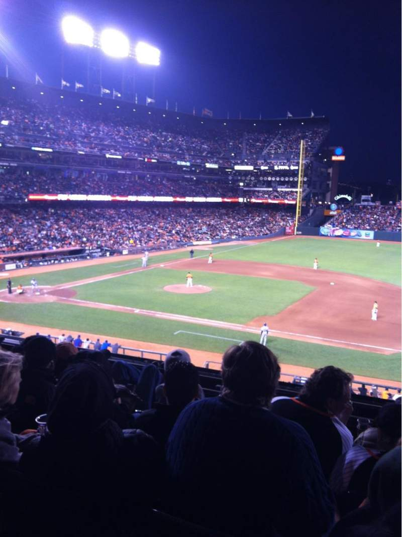 Seating view for AT&T Park Section 207 Row E Seat 3