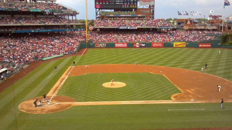 Seating view for Citizens Bank Park Section 217 Row 2 Seat 1