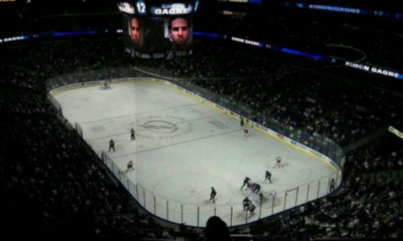 Seating view for Amalie Arena Section Front Row 1 Seat 9