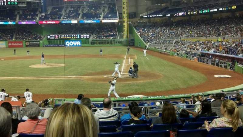 Seating view for Marlins Park Section 18 Row 2 Seat 5