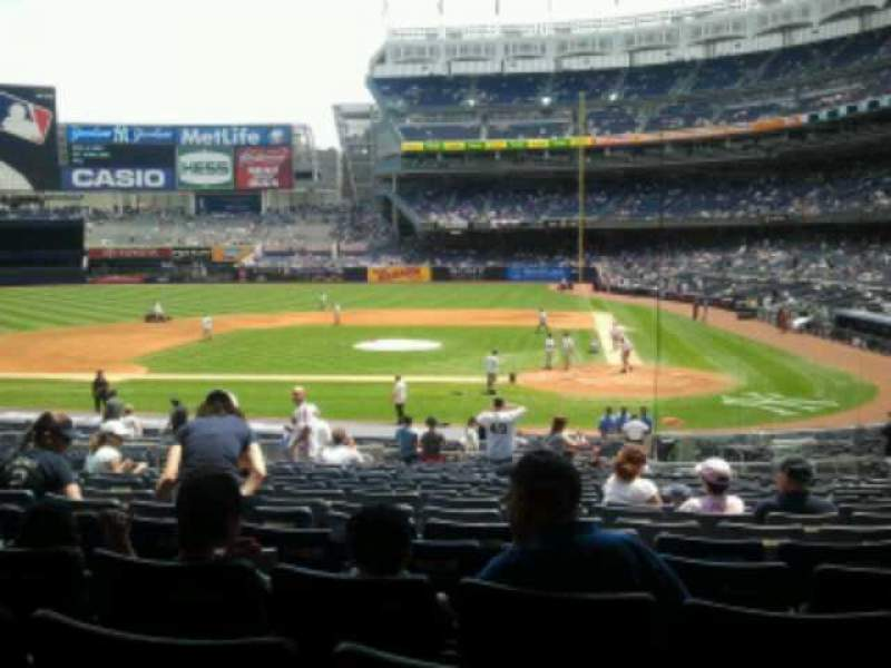 Seating view for Yankee Stadium Section 122 Row 29 Seat 11