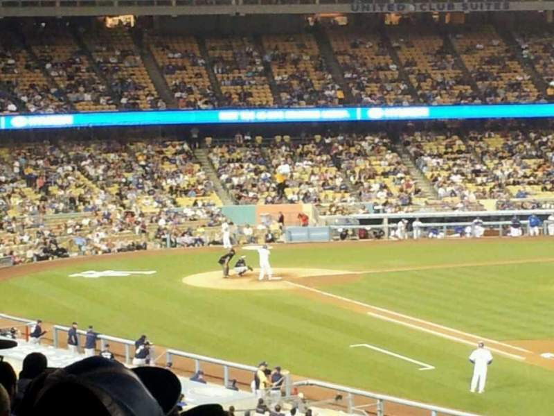 Seating view for Dodger Stadium Section 150LG Row O Seat 1