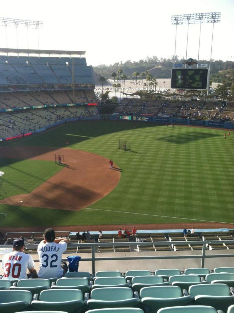 Seating view for Dodger Stadium Section Reserve Row F Seat 8