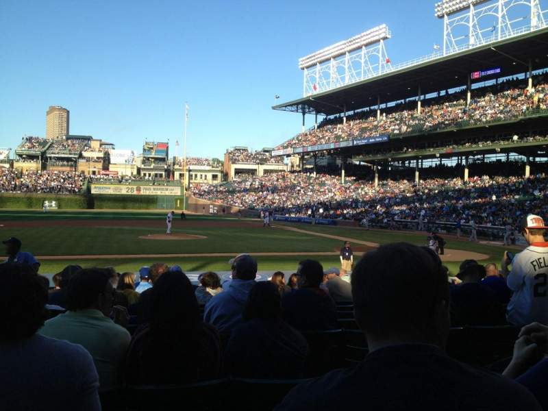 Seating view for Wrigley Field Section 115 Row 3 Seat 109