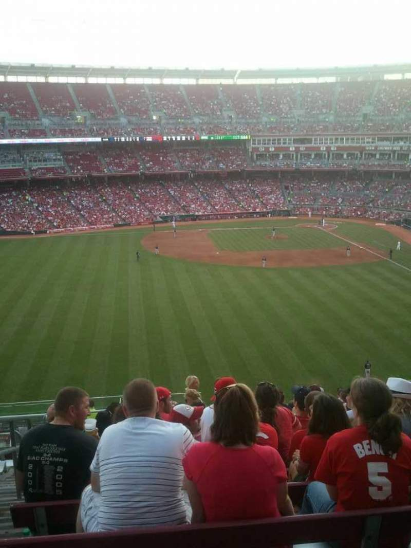 Seating view for Great American Ball Park Section 403 Row V Seat 22