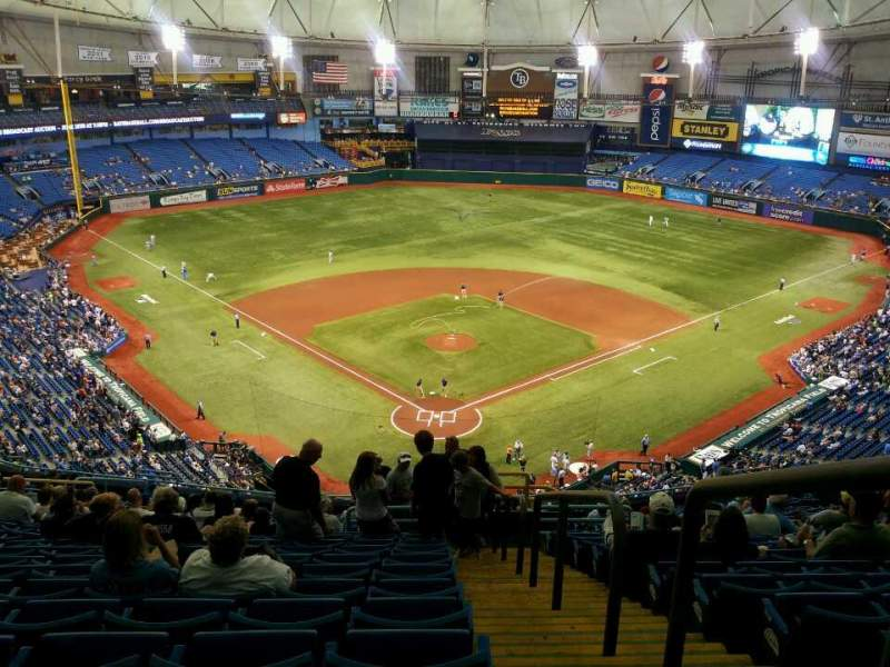 Seating view for Tropicana Field Section 300 Row y Seat 20