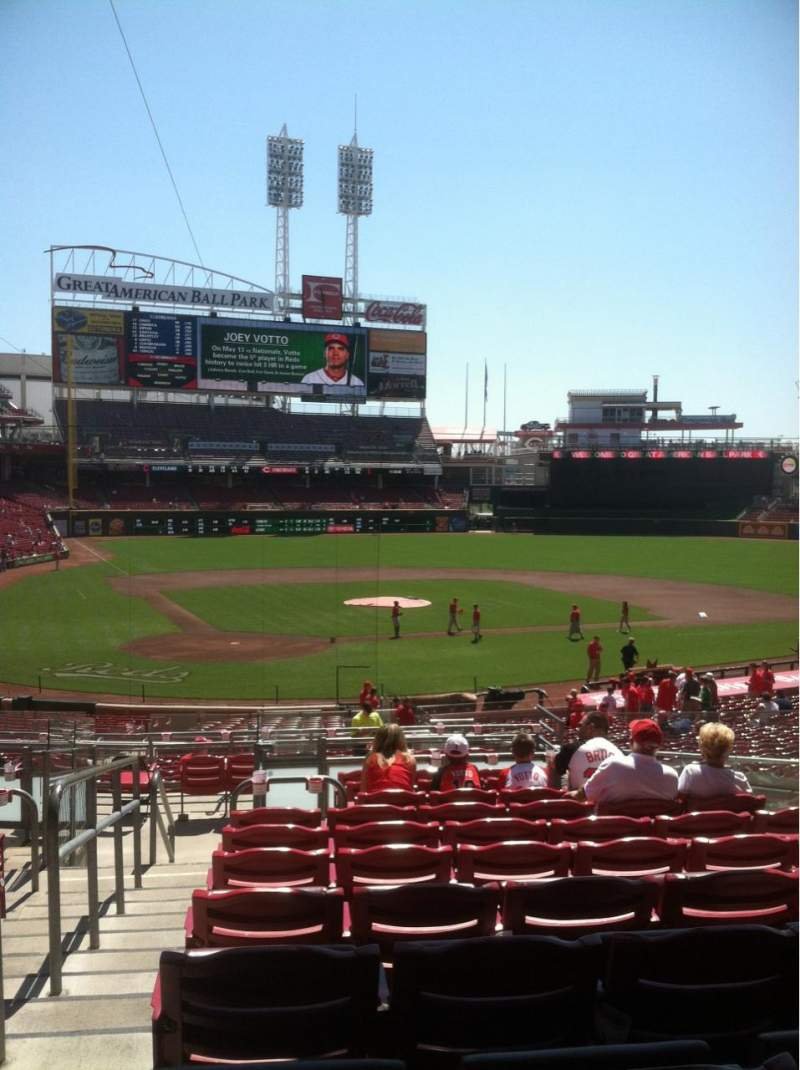 Seating view for Great American Ball Park Section 126 Row K Seat 10