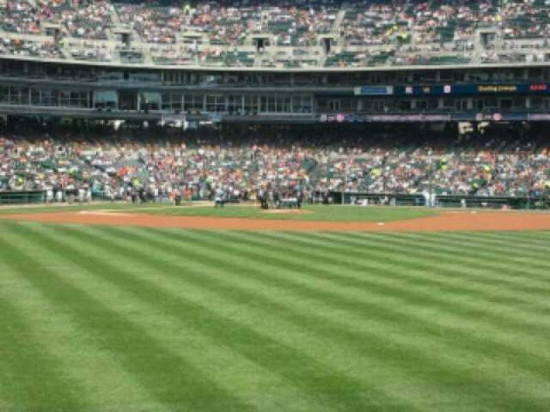 Seating view for Comerica Park Section 102 Row F Seat 8