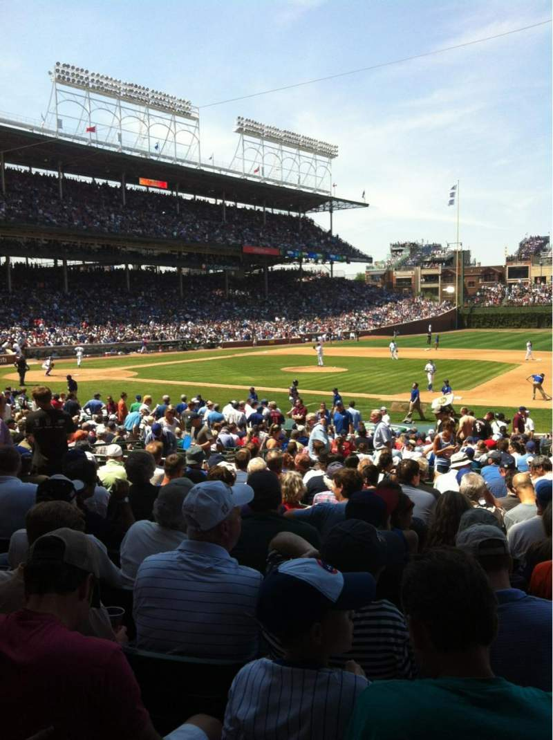 Seating view for Wrigley Field Section 131 Row 14 Seat 103
