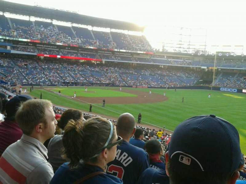 Seating view for Turner Field Section 225 Row 6 Seat 102