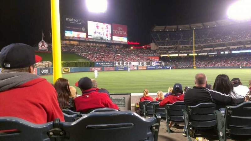 Seating view for Angel Stadium Section F103 Row J Seat 18
