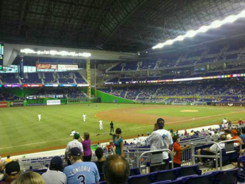 Seating view for Marlins Park Section 24 Row 9 Seat 5