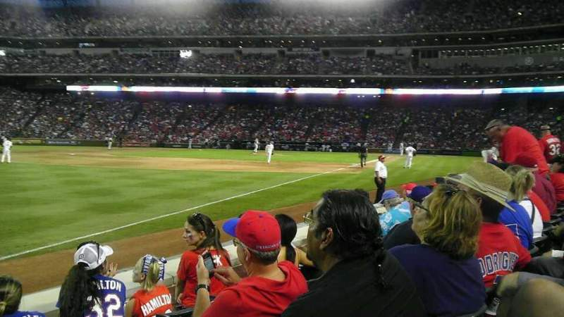 Seating view for Globe Life Park in Arlington Section 13 Row 4 Seat  6