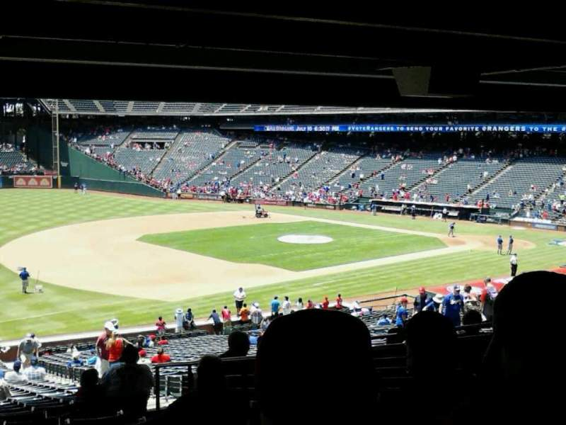 Seating view for Globe Life Park in Arlington Section 116 Row 40 Seat 3