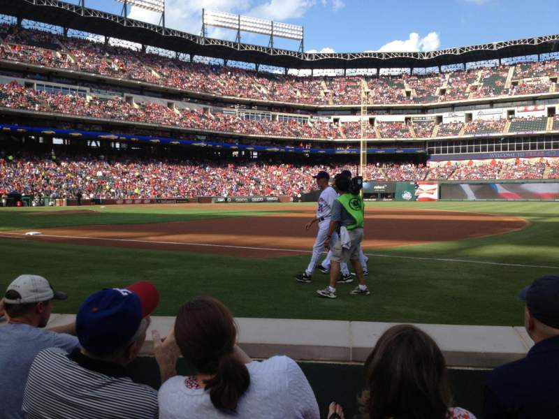 Seating view for Globe Life Park in Arlington Section 36 Row 1 Seat 7