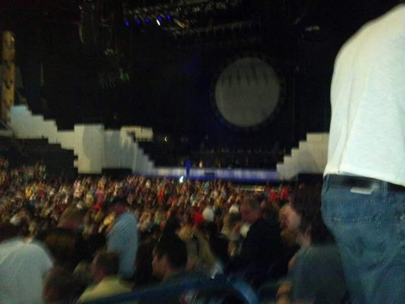 Seating view for Bridgestone Arena Section 104 Row Kk Seat 1
