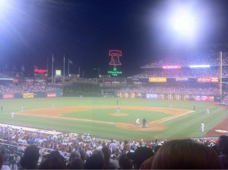 Seating view for Citizens Bank Park Section 125 Row 33 Seat 18