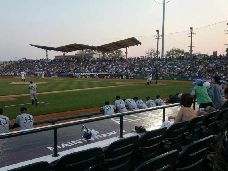 Seating view for MCU Park Section 13 Row H Seat 10