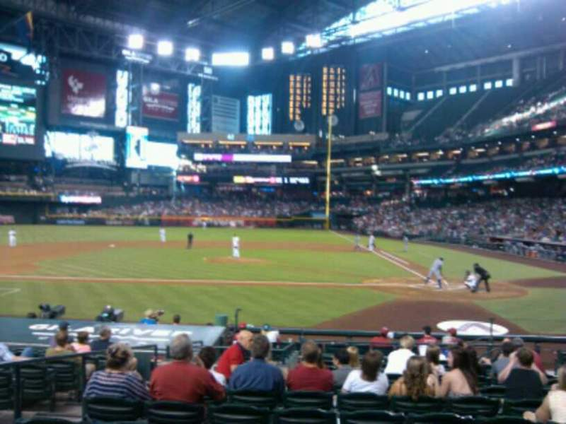 Seating view for Chase Field Section M Row M Seat 8