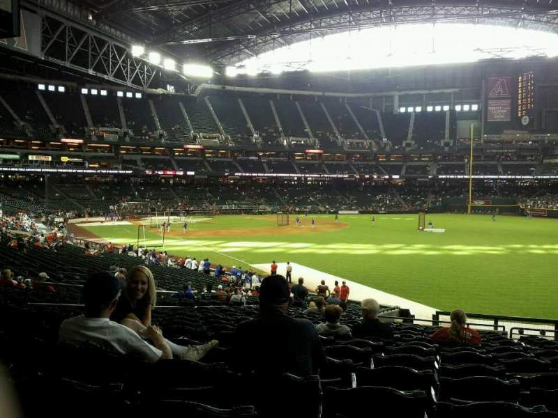 Seating view for Chase Field Section 108 Row 38 Seat 108