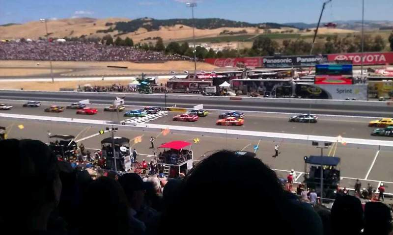 Seating view for Sonoma Raceway Section main grandstand Row 39 Seat 3
