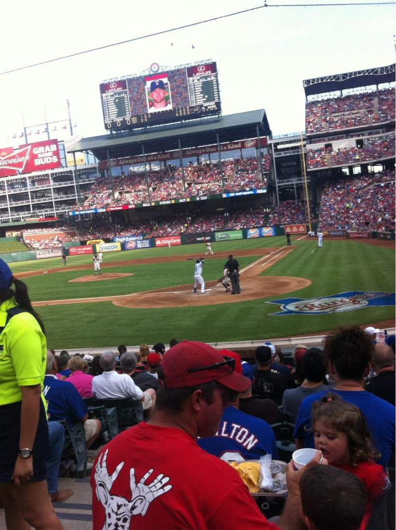Seating view for Globe Life Park in Arlington Section 23L Row 10 Seat 2