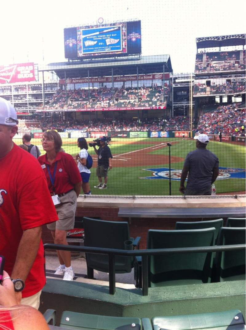 Seating view for Globe Life Park in Arlington Section 23L Row 3 Seat 2