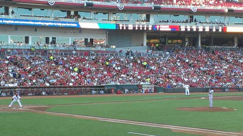 Seating view for Great American Ball Park Section 132 Row S Seat 5