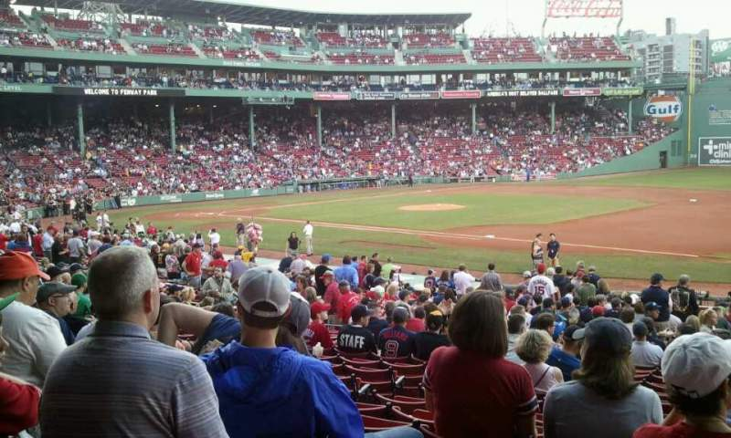 Seating view for Fenway Park Section Loge Box 103 Row QQ Seat 4