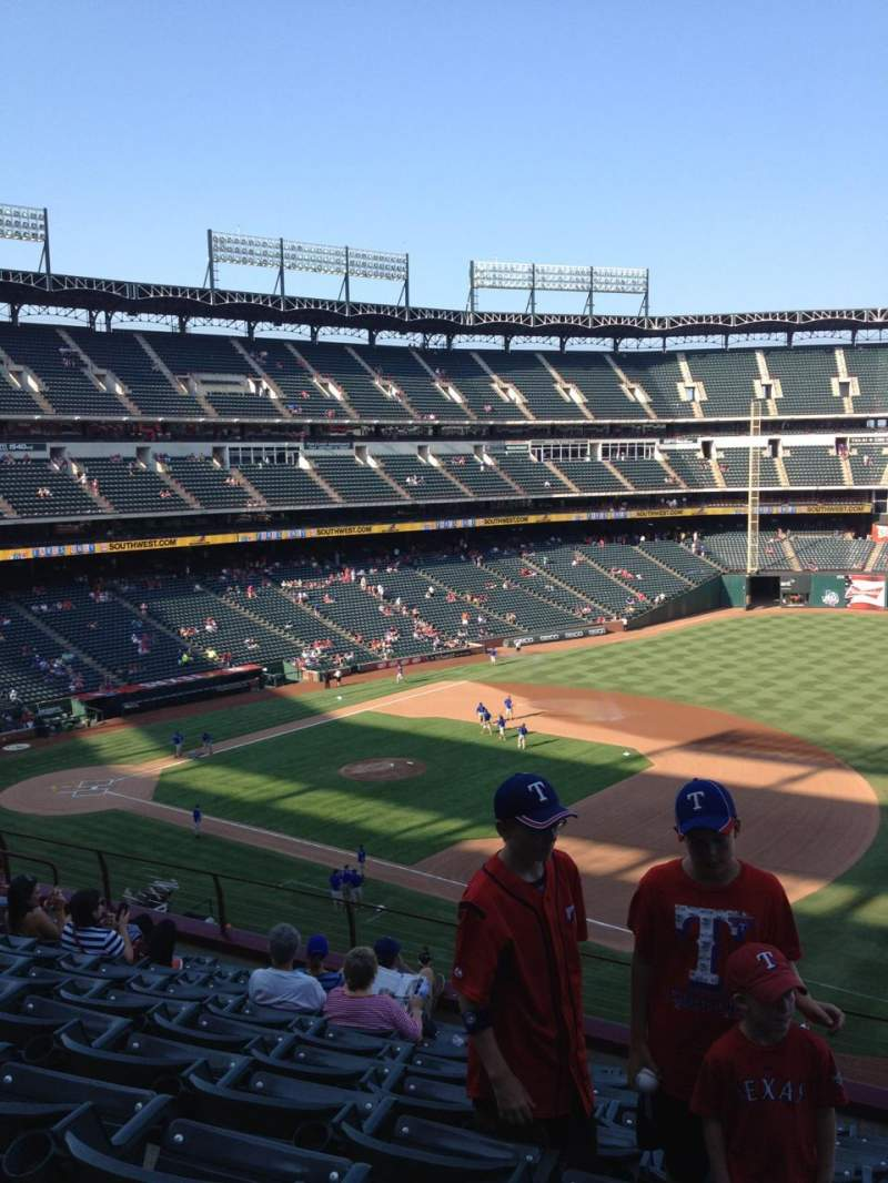 Seating view for Globe Life Park in Arlington Section 236 Row 9 Seat 15