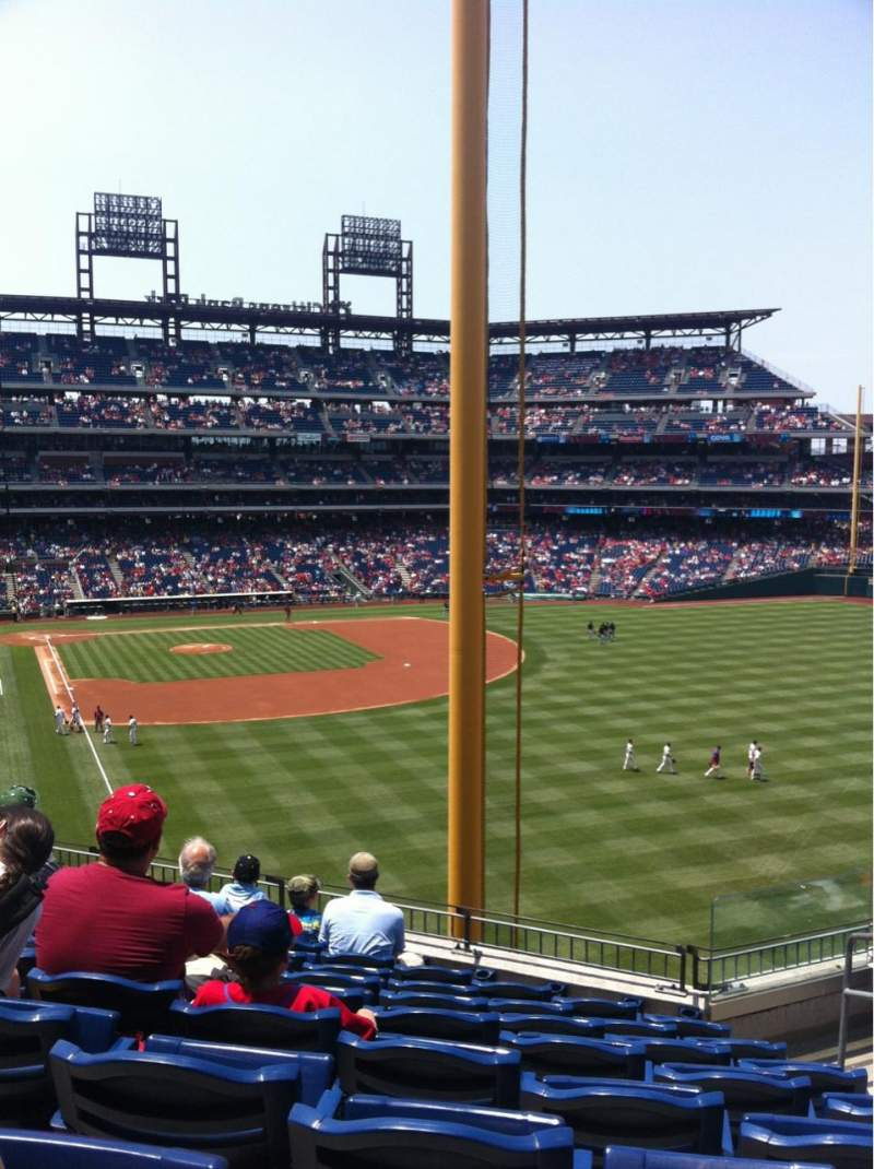 Seating view for Citizens Bank Park Section 206 Row 8 Seat 4
