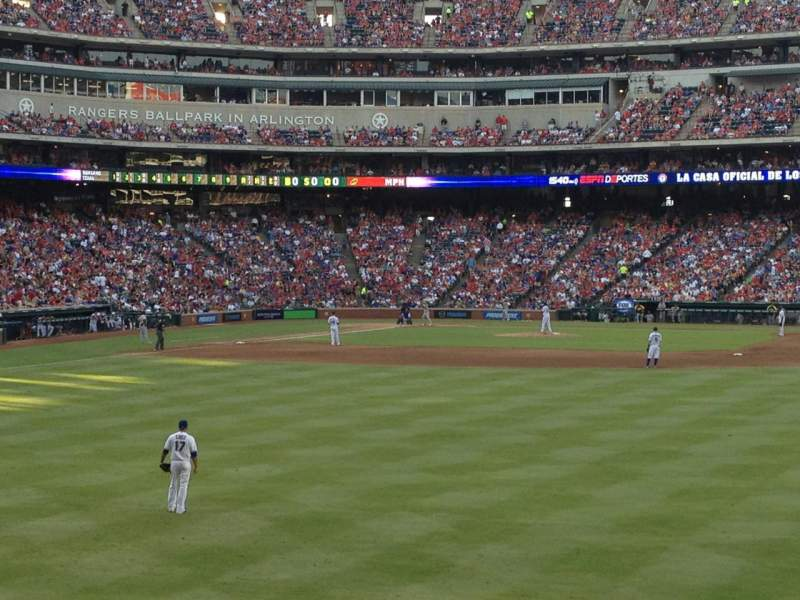 Seating view for Globe Life Park in Arlington Section 47 Row 9 Seat 17