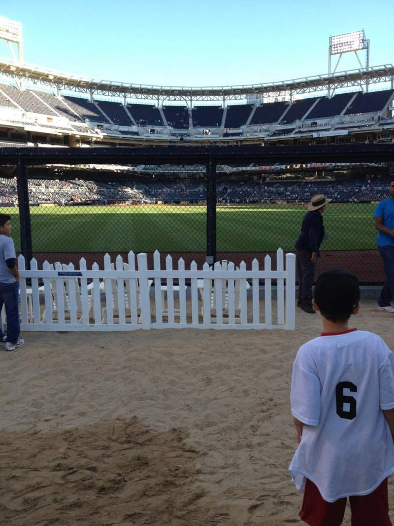 Seating view for PETCO Park Section Bleachers Row 2 Seat 45