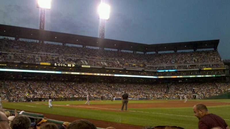 Seating view for PNC Park Section 5 Row E Seat 5