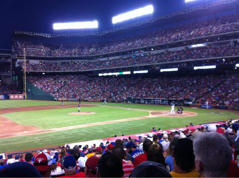 Seating view for Globe Life Park in Arlington Section 18 Row 20 Seat 5