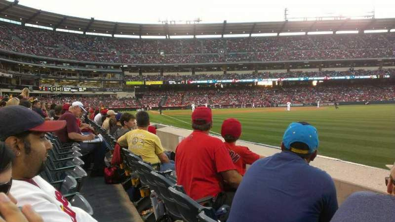 Seating view for Angel Stadium Section F131 Row B Seat 13