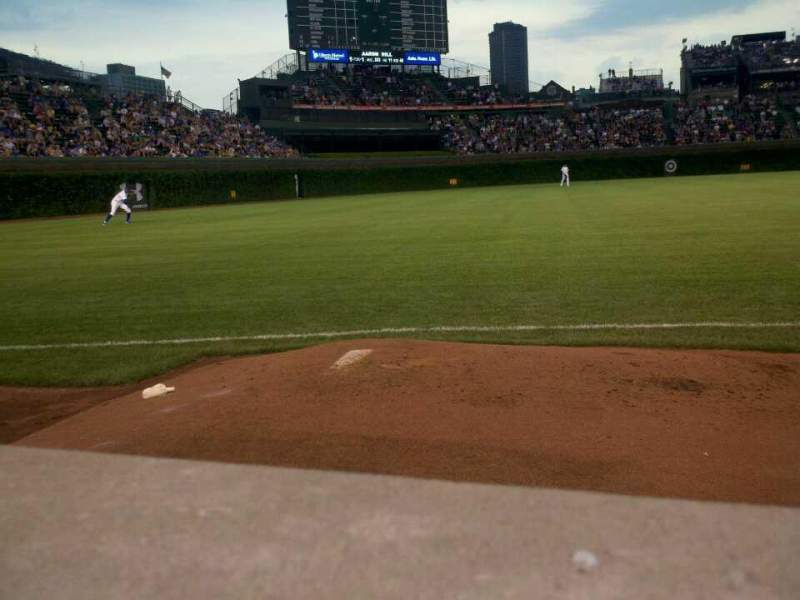 Seating view for Wrigley Field Section 6 Row 1 Seat 101
